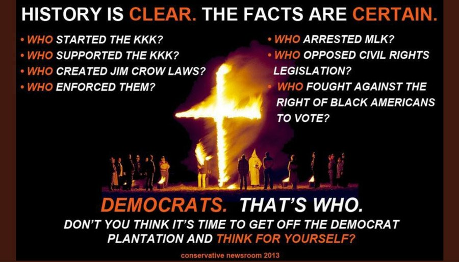 history is clear- Democrats are racist