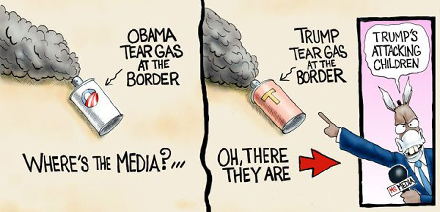 tear gas at border