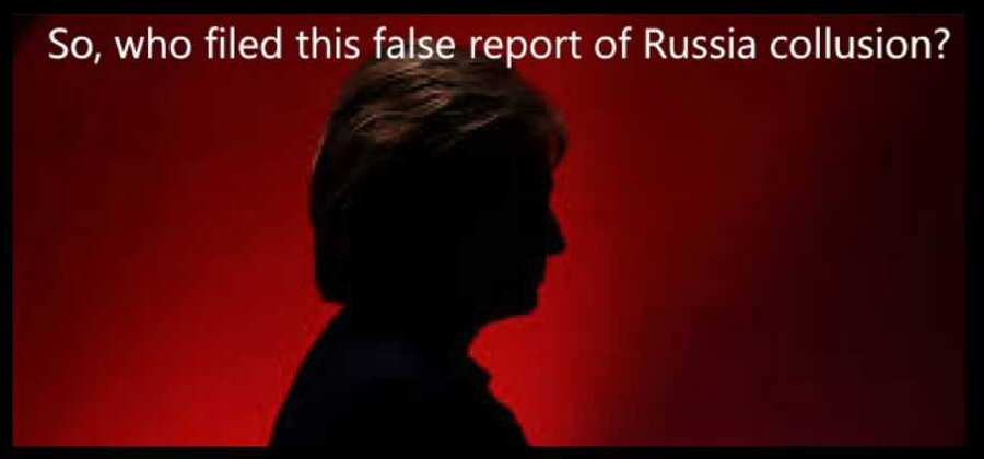 who filed false report russian collusion