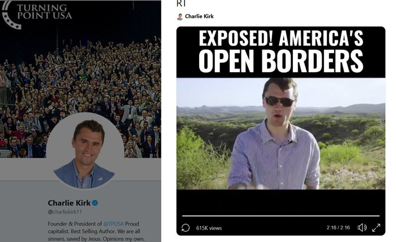 Charlie Kirk build the wall