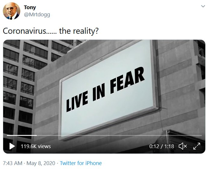 live in fear