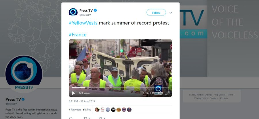 yellow vests protest in France