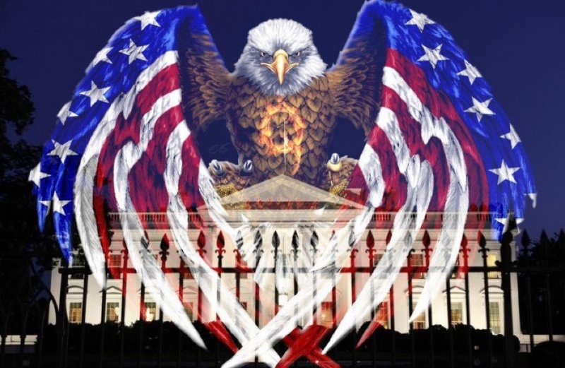 Eagle over the White House