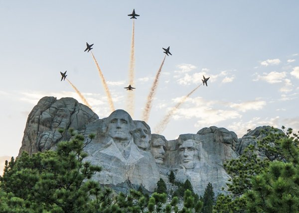 Mount Rushmore Blue Angels