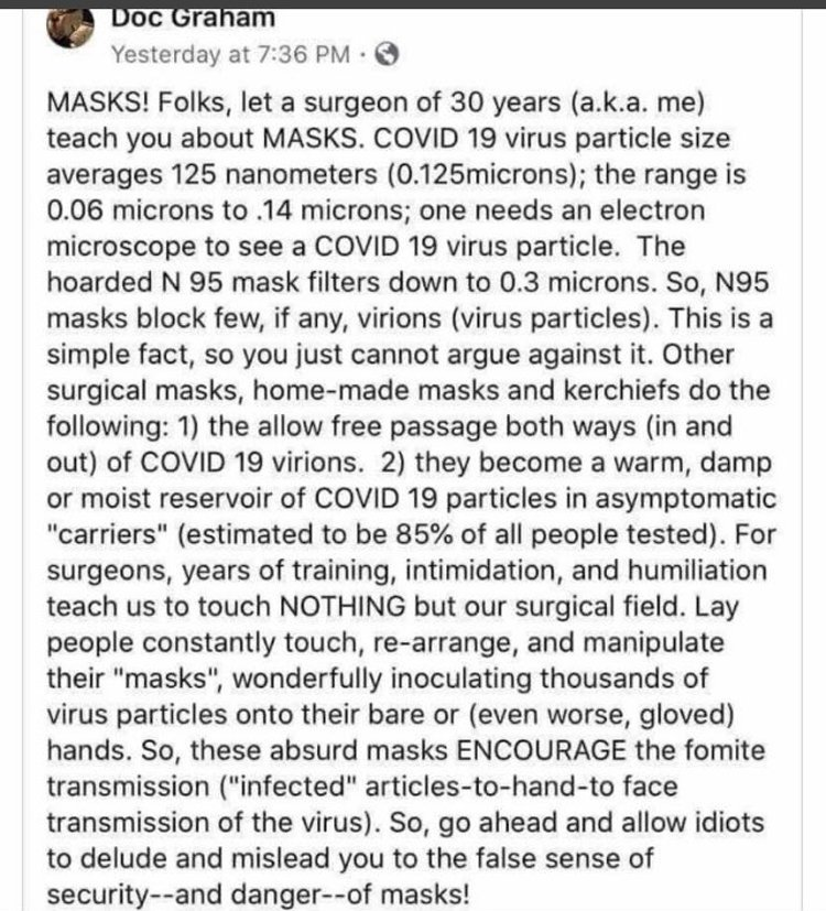 ruth about masks from surgeon