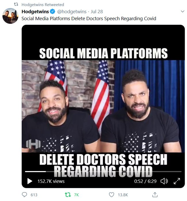 Hodgetwins on HCQ for covid-19