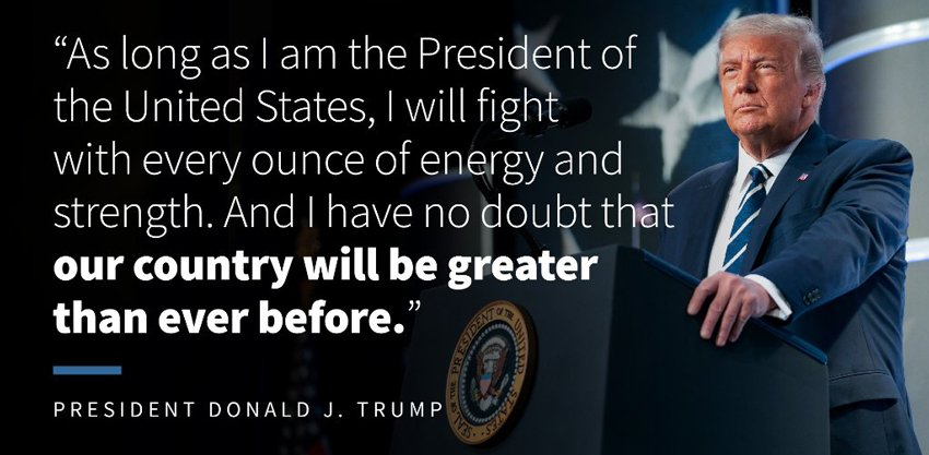 President Trump fights for us