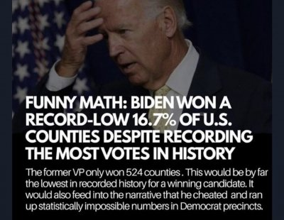 funny math Biden votes