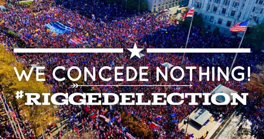 we concede nothing rigged election