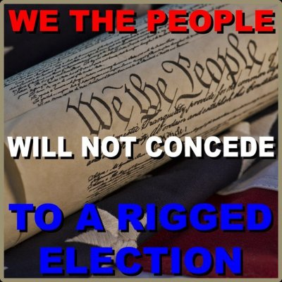 will not concede rigged election